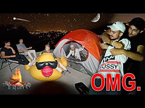 CAMPING ON TOP OF MY ROOF!! (WE GOT ATTACKED)