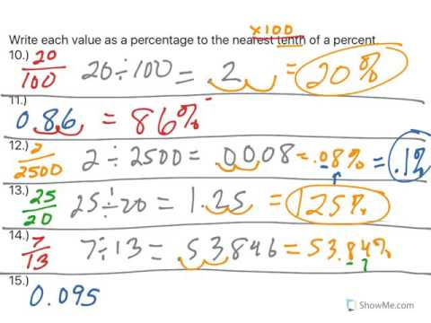 Fractions, Percentages, Rounding (Lesson 1)