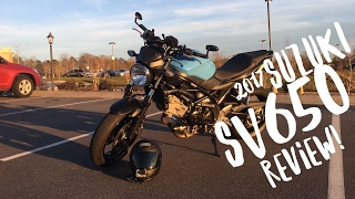 9. 2017 Suzuki SV650 Motorcycle Review MotoVlog!!!