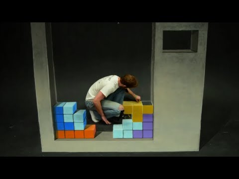 Tetris Stop Motion Chalk Art