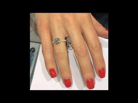 1.40 ct Round Diamond Micro Pave Engagement Ring