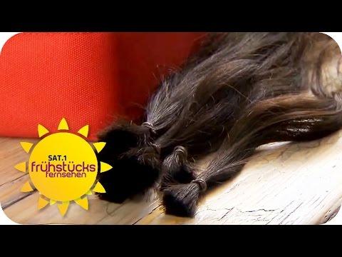 Haare spenden | SAT.1 Frühstücksfernsehen