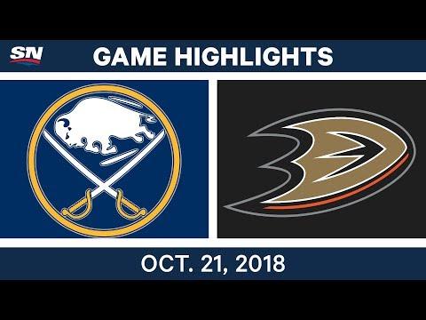 NHL Highlights  Sabres vs. Ducks - Oct. 21, 2018