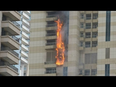Dubai fire in Sufala Tower: Blaze rips through residential skyscraper