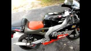 10. 1999 Aprilia rs 50 motorcycle
