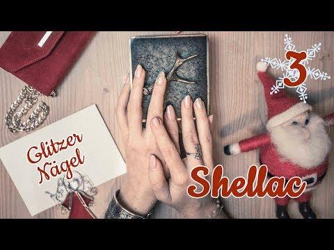 DIY Shellac Glitzer Nägel  Frostiges Weihnachts Nageldesign selber machen  Nicola's Christmas