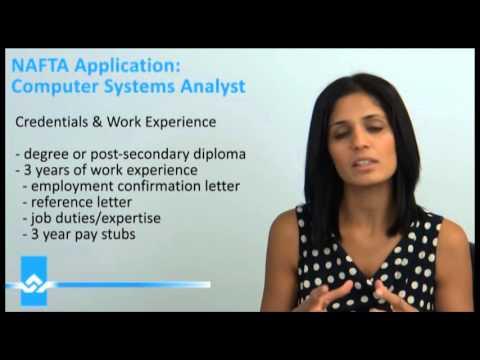 NAFTA Application Under Computer Systems Analyst Video
