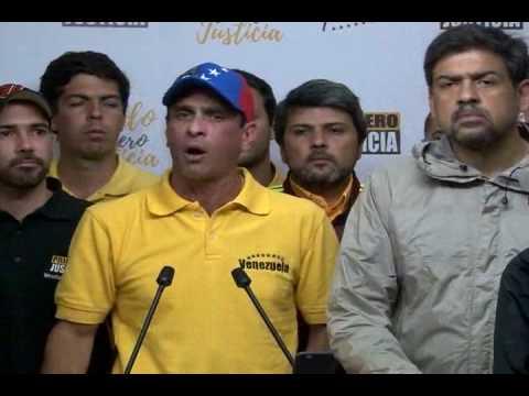 Capriles: Gracias al bravo pueblo venezolano porque hemos cumplido con la meta de validación