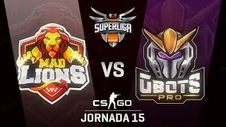 MAD LIONS E.C. VS GBOTS - MAPA 2 - SUPERLIGA ORANGE - #SUPERLIGAORANGECSGO15