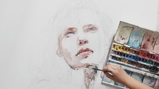 S6 Timelapse: Incredible Watercolor Speed Painting w/ Agnes-Cecile
