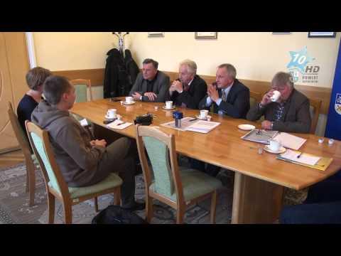 Konferencja prasowa władz Powiatu Sępoleńskiego, 31.10.2014 r.