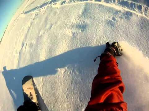 Snowkiten Fürstenwalde Part 2, 29.01.2011, Snowboard: jumps,rolls, ...