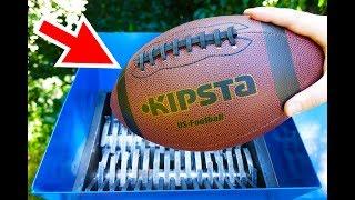 Video WHAT WILL HAPPEN IF YOU THROW A FOOTBALL INTO THE SHREDDING MACHINE? MP3, 3GP, MP4, WEBM, AVI, FLV Februari 2019