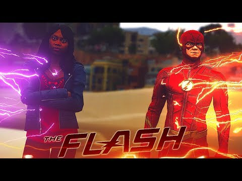 The Flash & Iris Vs Children Of Thanos! (gta 5 Flash & Thanos Mod)