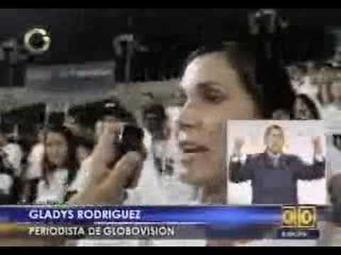 Protesta por cierre de RCTV en Venezuela. Sabotean concierto de Luis Miguel