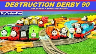 Video Thomas & Friends Destruction Derby #90 - Trackmaster toy trains competition with many accidents. MP3, 3GP, MP4, WEBM, AVI, FLV Juni 2018