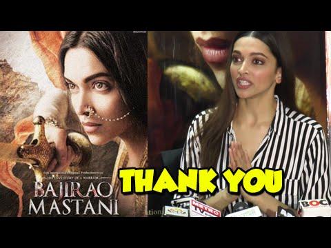 Deepika Padukone Thanks Fans For Bajirao Mastani S