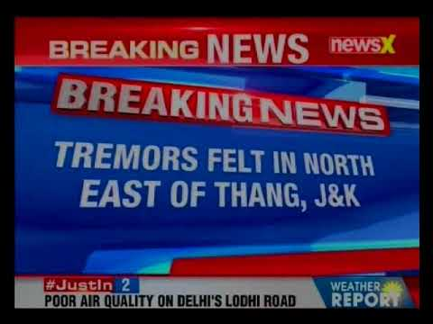 J&K: 5.1 m earthquake shakes thang in early morning today