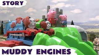Thomas & Friends Peppa Pig Play Doh Kids Toy Story Muddy Puddle James Roller Coaster Mountain