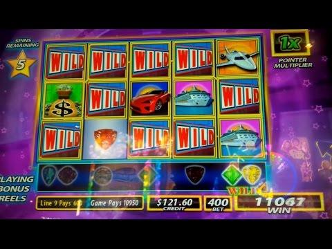 Wheel of Fortune Wild Gems Slot Machine *DOUBLE BONUS* Big Win!
