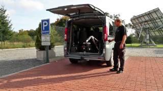 Nakládací zařízení vozíků OLYMPIAN 001 ve voze OPEL Vivaro