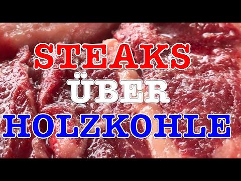 Steaks wie ein Cowboy auf Holzkohle grillen --- Klaus grillt