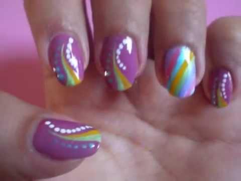 shine nail design