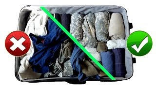 Army Packing Hack: How To Pack Luggage Like A Pro For Travel || Space Saving Military Style