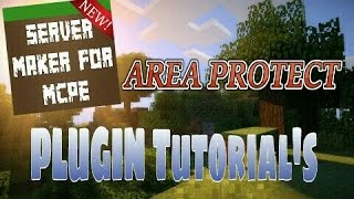 This video explains how to use the Area Protection plugin featured in Server Maker for Minecraft PE, the #1 app to create your own MCPE Server.You can find the application here: Android:https://play.google.com/store/apps/details?id=com.bawztech.mcpeservermakerApple/IOS:https://itunes.apple.com/us/app/server-maker-for-minecraft-pe/id1138832899?mt=8This video was sponsored by one of our users, SnowDriven.You guys should definitely check his channel out it can be found here: https://www.youtube.com/channel/UCzWVOup-HVORNT_XhJm_6CAThe game you see featured in this video is Minecraft: Pocket Edition, this game is published by Mojang, a company owned by Microsoft. We do not have any affiliation with them, nor are we endorsed with them. This video exists for informational purposes only.
