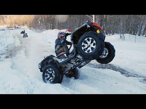 Наваливаем на ВRР Хмr 1000  и Саn-ам Rеnеgаdе по снежной ЖИЖЕ  - DomaVideo.Ru