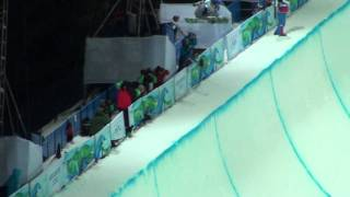 Scott Lago RUN # 1 Vancouver 2010 OLYMPIC HALFPIPE Finals