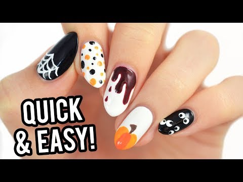 5 Last-Minute Halloween Nail Art Designs Using Toothpicks!