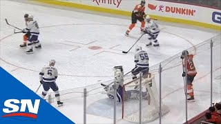 Lightning's Louis Domingue Uses Windmill Kick Save To Stun Flyers by Sportsnet Canada