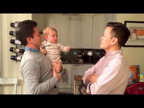 baby does double take when seeing dad's double