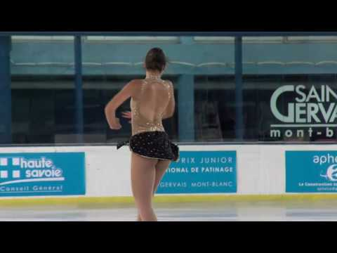2016 ISU Junior Grand Prix - St. Gervais - Ladies Free Skate Tania MARGARIDO