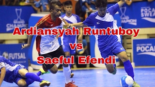 Download Video ARDIANSYAH RUNTUBOY VS SAEFUL EFENDI (Final Pocari Sweat Futsal 2015) MP3 3GP MP4