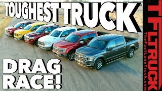 What's the Fastest Half-Ton You Can Buy? World's Toughest Truck Drag Race #1 by The Fast Lane Truck