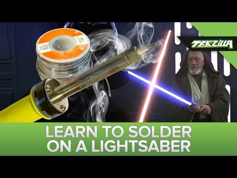 How to solder - In celebration o' May (the) 4th (be with you) a master lightsaber smith teaches how to solder on a lightsaber! http://www.savatronsabers.com/ http://www.fx-s...