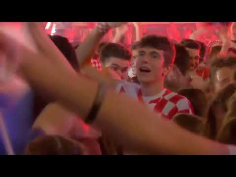 Euphoria in Zagreb as Croatia go ahead of England in extra-time