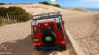 Forza Horizon 4 - Land Rover Defender 90 V8 Modern Offroad Tuning - Open World Free Roam Gameplay