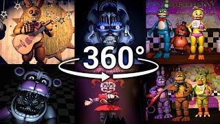 Video 360°| Best FNAF 360 Show Compilation!! - Five Nights at Freddy's [SFM] (VR Compatible) Part 1 MP3, 3GP, MP4, WEBM, AVI, FLV September 2019