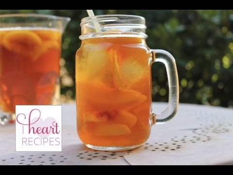 Sweet Peach Iced Tea Recipe | I Heart Recipes