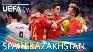 Watch highlights after Spain beat Kazakhstan 5-3 to reach the final of UEFA Futsal EURO 2016. http://www.youtube.com/subscription_center?add_user=uefa Facebo...