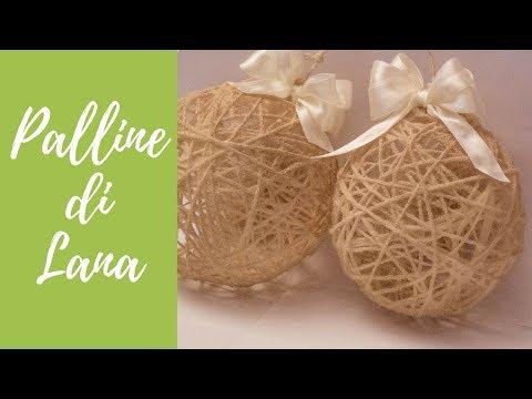 tutorial: palline di natale shabby con lana