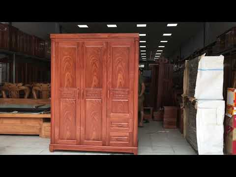 Tủ áo gỗ Hương Đá 3 cánh 1m6