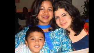 Tamil actress Radhika with her husband and kids video