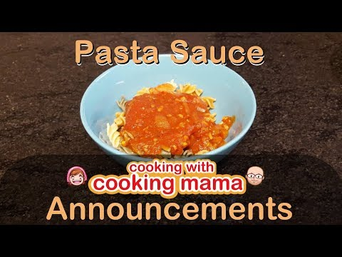 Announcements With Pasta! | Cooking With Cooking Mama!