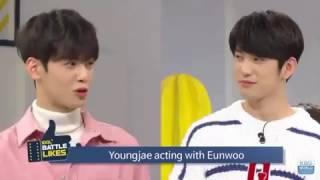 Video ◇GOT7◇ Idol battle likes_Jinyoung acting with Eunwoo & Youngjae 😂 MP3, 3GP, MP4, WEBM, AVI, FLV November 2017