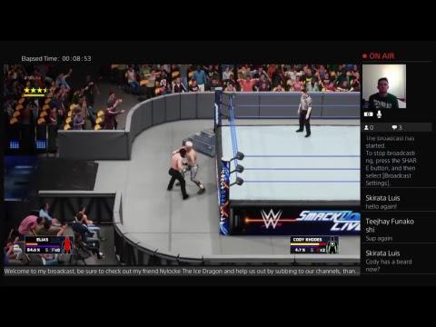 WWE 2K18: Elias vs Cody Rhodes | Smackdown Live 5/15/18