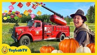 Halloween Pumpkin Patch Adventure & Giant Maze! Family Friendly Kids Activities & Surprise Toys